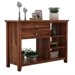 Lester Console Table (Teak Finish)