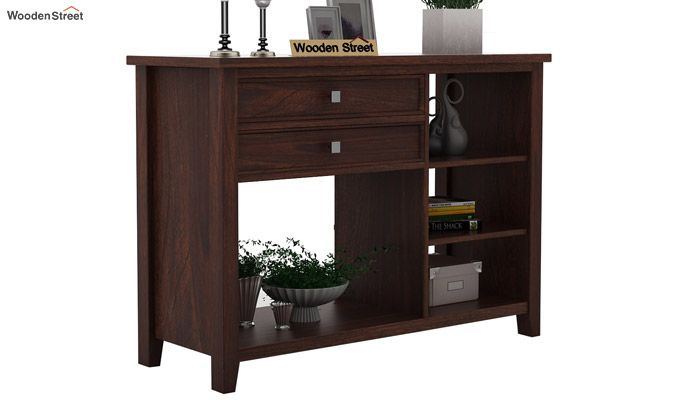 Lester Console Table (Walnut Finish)-1