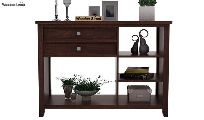 Lester Console Table (Walnut Finish)-2
