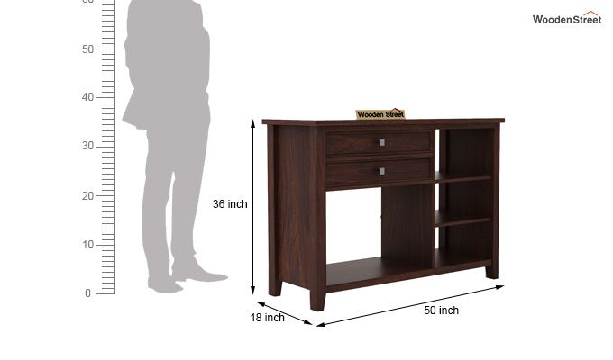Lester Console Table (Walnut Finish)-5