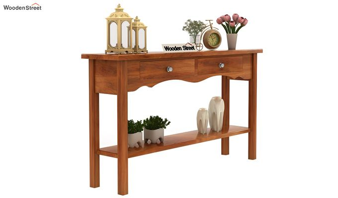 Loriat Console Table (Honey Finish)-1