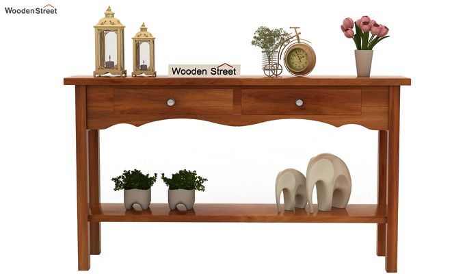 Loriat Console Table (Honey Finish)-2