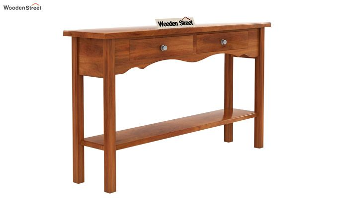 Loriat Console Table (Honey Finish)-3