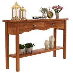 Loriat Console Table (Honey Finish)