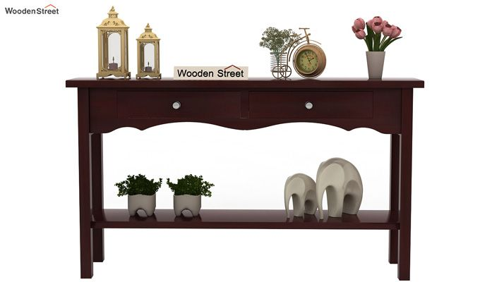 Loriat Console Table (Mahogany Finish)-2