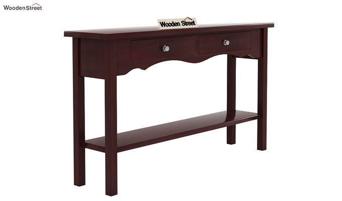 Loriat Console Table (Mahogany Finish)-3