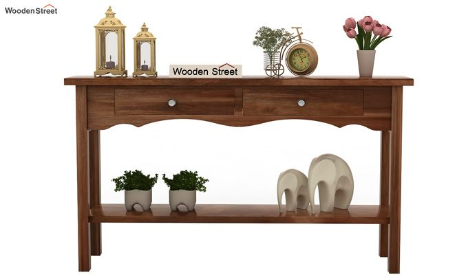 Loriat Console Table (Teak Finish)-3