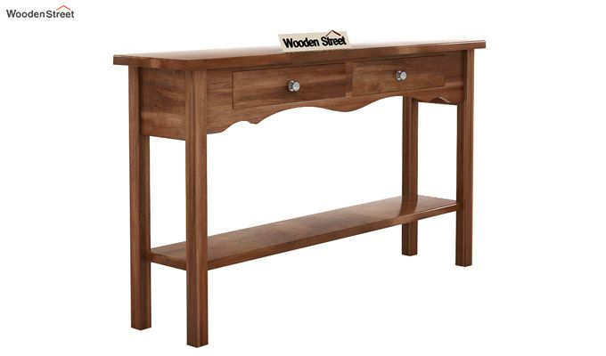 Loriat Console Table (Teak Finish)-4