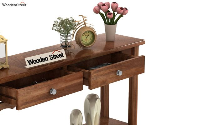 Loriat Console Table (Teak Finish)-5