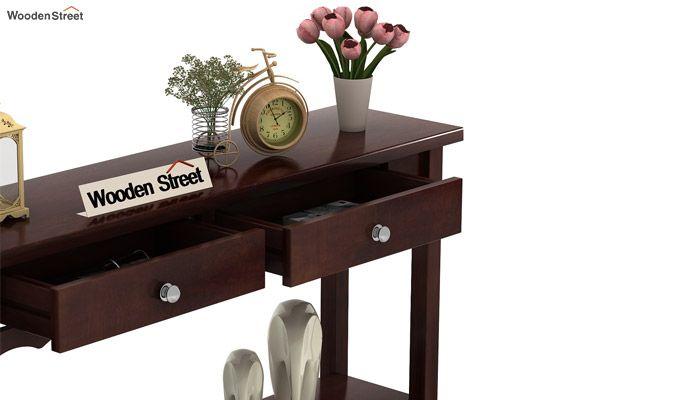 Loriat Console Table (Walnut Finish)-3