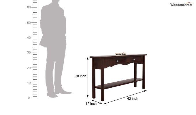 Loriat Console Table (Walnut Finish)-5