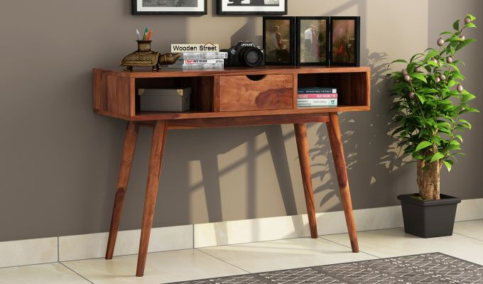 Lynton Console Table (Teak Finish)-1