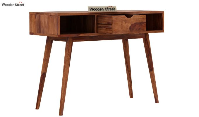 Lynton Console Table (Teak Finish)-4