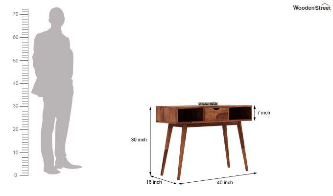 Lynton Console Table (Teak Finish)-6
