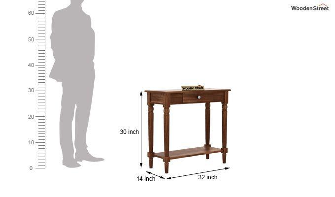 Maudal Console Table (Teak Finish)-6