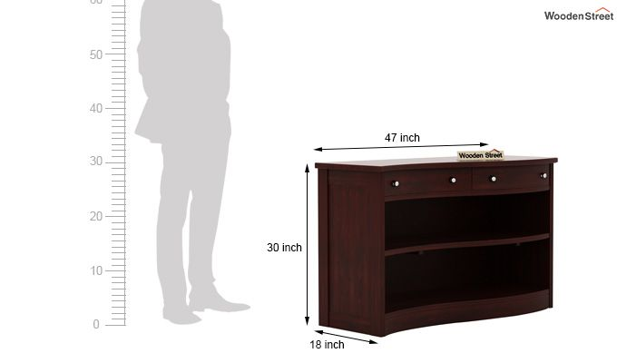 Morkel Console Table (Mahogany Finish)-6