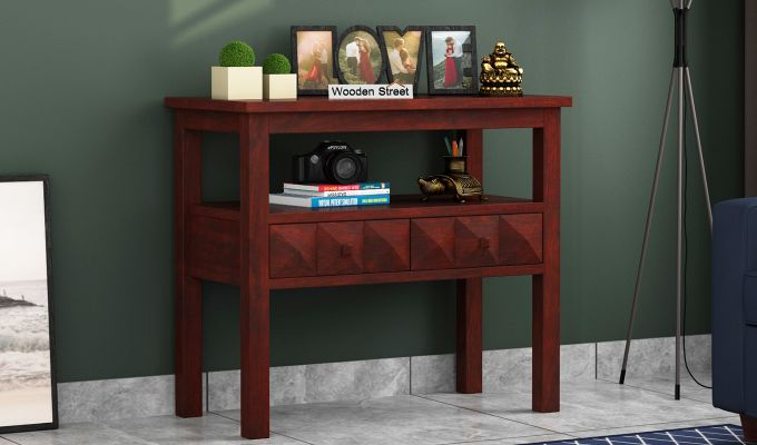 Morse Console Table (Mahogany Finish)-1