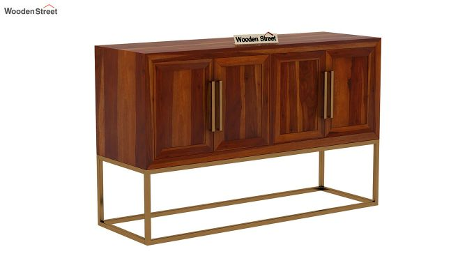 Oscar Console Table (Honey Finish)-3
