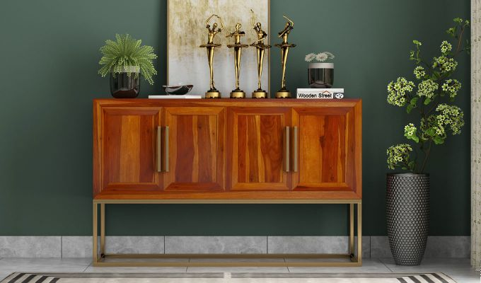 Oscar Console Table (Honey Finish)-2