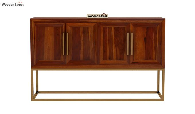Oscar Console Table (Honey Finish)-4