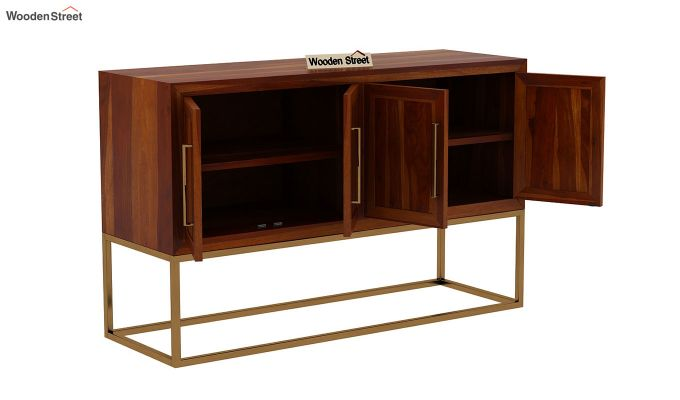 Oscar Console Table (Honey Finish)-5