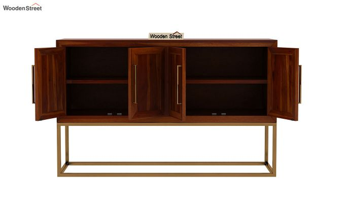 Oscar Console Table (Honey Finish)-6