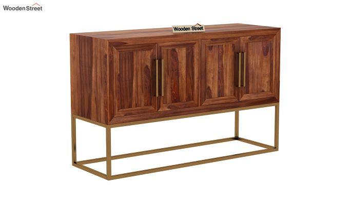 Oscar Console Table (Teak Finish)-3