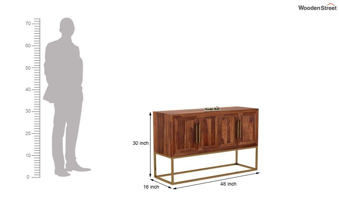 Oscar Console Table (Teak Finish)-7