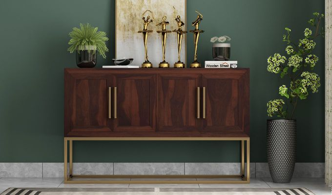 Oscar Console Table (Walnut Finish)-2