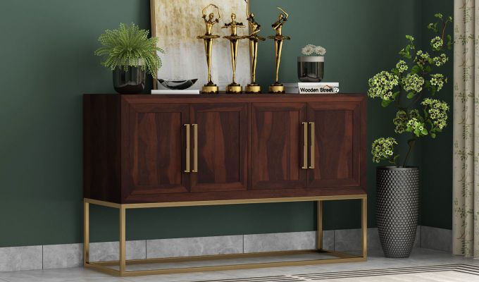 Oscar Console Table (Walnut Finish)-1