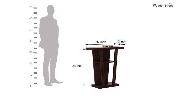 Petrov Console Table (Walnut Finish)-4