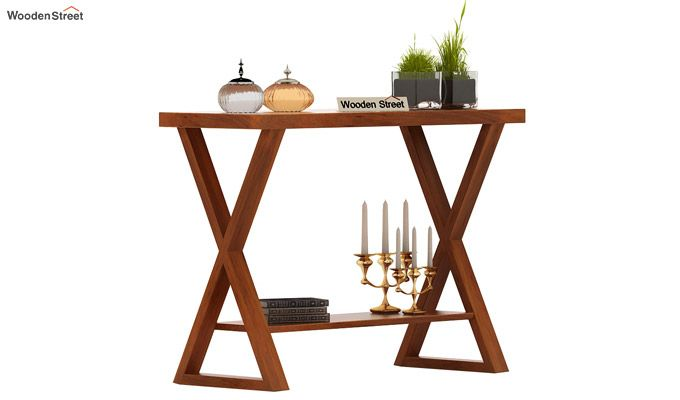 Porter Console Table (Honey Finish)-1