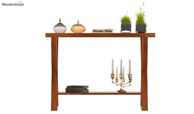 Porter Console Table (Honey Finish)-2