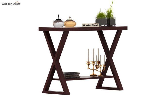Porter Console Table (Mahogany Finish)-2