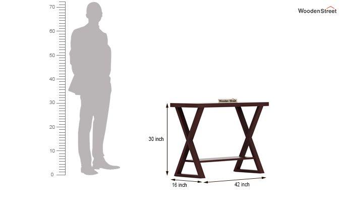 Porter Console Table (Mahogany Finish)-5