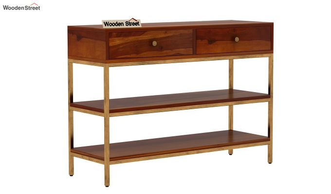 Porter Console Table (Honey Finish)-3