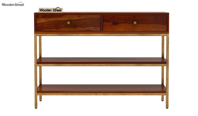 Porter Console Table (Honey Finish)-4