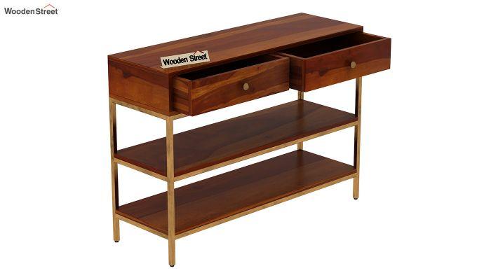 Porter Console Table (Honey Finish)-5