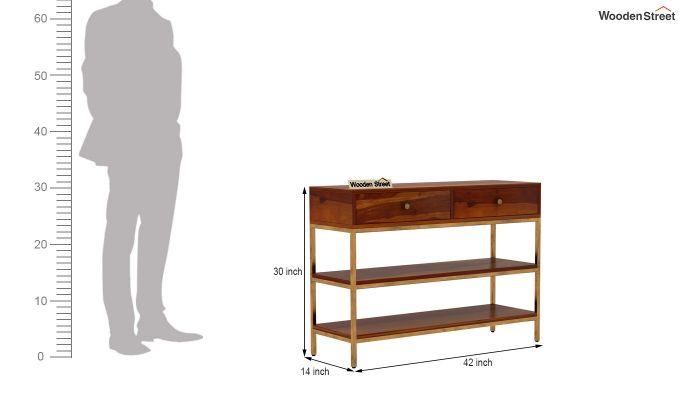 Porter Console Table (Honey Finish)-6