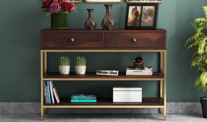 Porter Console Table (Walnut Finish)-2