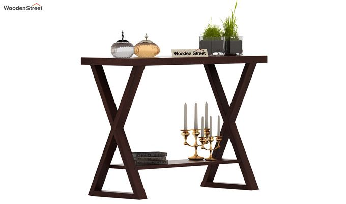 Porter Console Table (Walnut Finish)-1