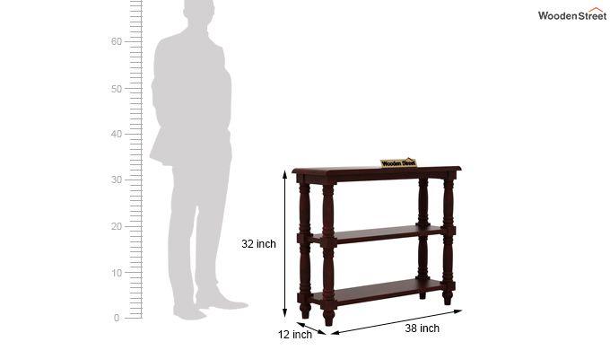 Powell Console Table (Mahogany Finish)-4