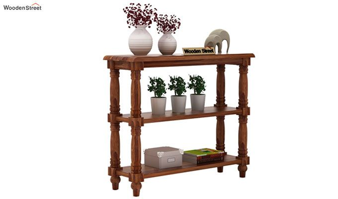 Powell Console Table (Teak Finish)-1