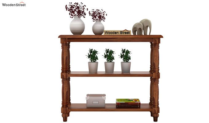 Powell Console Table (Teak Finish)-2