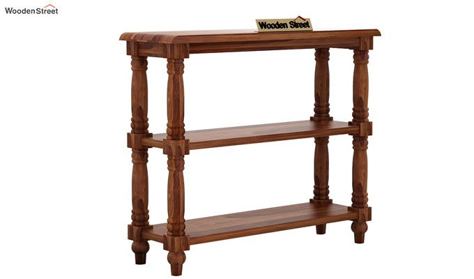 Powell Console Table (Teak Finish)-3
