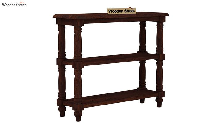 Powell Console Table (Walnut Finish)-3