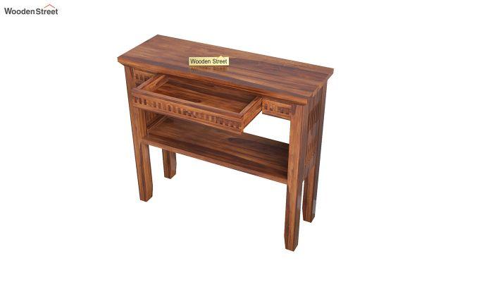 Rainer Console Table (Honey Finish)-4