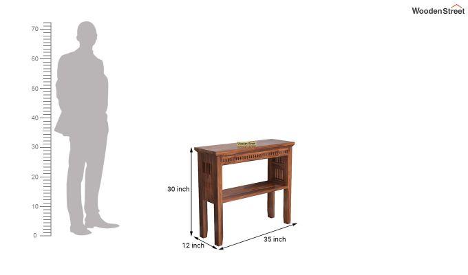 Rainer Console Table (Honey Finish)-5