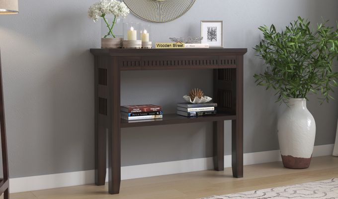 Rainer Console Table (Walnut Finish)-1