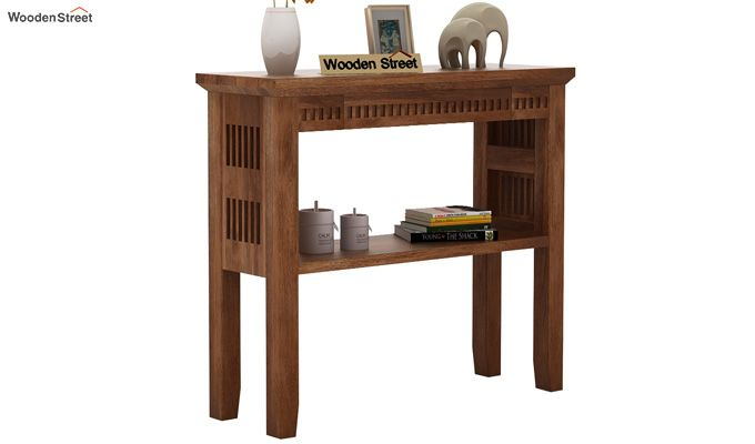 Rainer Console Table (Teak Finish)-1